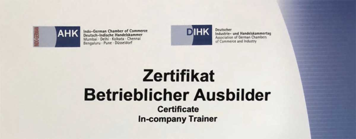 Certificat In-company trainer